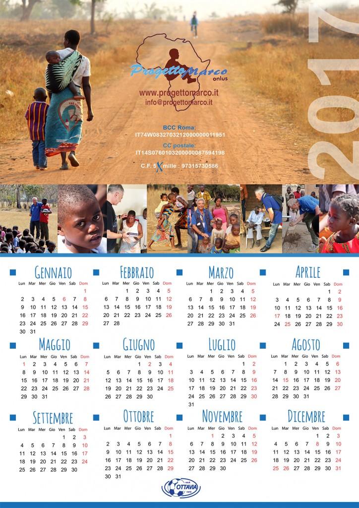 Calendario Progetto Marco 2017
