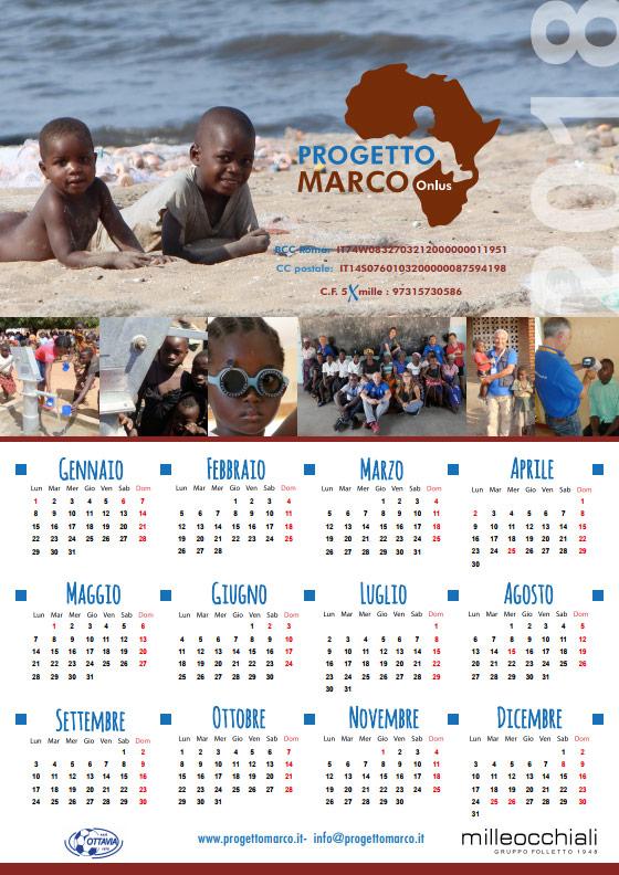 Calendario Progetto Marco 2018